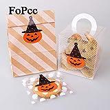 Tyro Bottes DIY Stickers de qualité supérieure 60pcs faite à la main en forme de citrouille d'Halloween Joint Autocollant cuisson Package étiquettes d'papier papeterie Post it