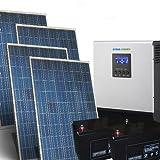 Kit Casa Solare Pro 1,5Kw 24V Impianto fotovoltaico Stand-Alone Isola