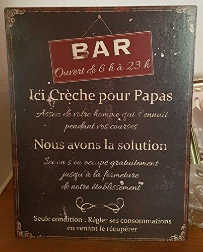 plaque «bar creche pour papas... » 25*33 cm