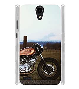 Vintage Orange Bike Soft Silicon Rubberized Back Case Cover for Panasonic T45 4G :: Panasonic T45