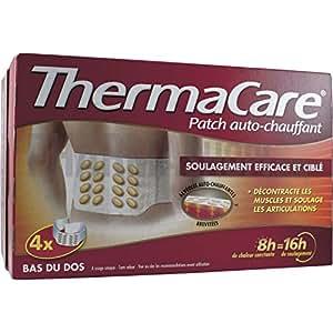 ThermaCare Patch Auto-Chauffant 8h Bas du Dos 4 Ceintures