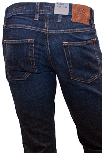 ALBERTO Authentic Dark Denim Jeans Pipe 30er bis 36er Länge Blau