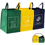 DWD-Company Lot de 3 sacs pour le tri et le recyclage des déchets