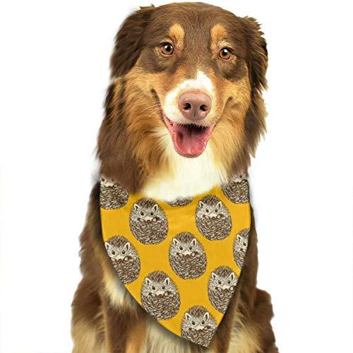 Igel Kostüm Muster - Gelb Netter Igel Mode Haustier Bandanas Hund Auto Halstuch Für Unisex Pet Junge Mädchen