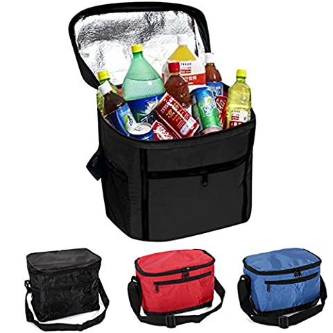 Aliciashouse Thermal Cooler Waterproof Lunch Bag Portable Insulated Picnic Tote -black