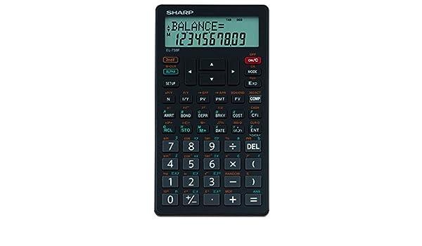 Sharp EL-738F Financial Calculator Business Calculator EL738F