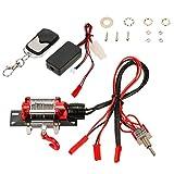 Gazechimp Winch/Seilzugwinde mit Wireless Fernbedienung Receiver Kit für 1:10 RC Crawler