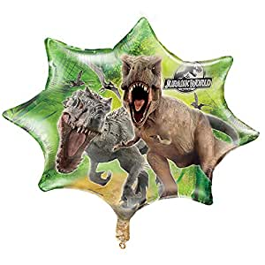 "Unique Party 28"" Giant Foil Jurassic World Balloon"