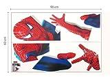 Wandtattoo Aufkleber Riesig Spiderman Jungen Kinderzimmer Wandtattoo - 1, Groß -