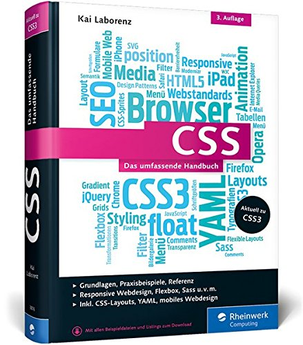 CSS: Das umfassende Handbuch. Inkl. Responsive Webdesign, Animationen, Sass Buch-Cover