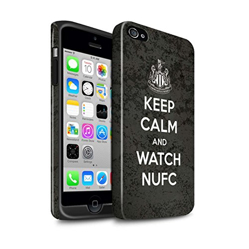 Officiel Newcastle United FC Coque / Brillant Robuste Antichoc Etui pour Apple iPhone 4/4S / Pack 7pcs Design / NUFC Keep Calm Collection Regarder NUFC