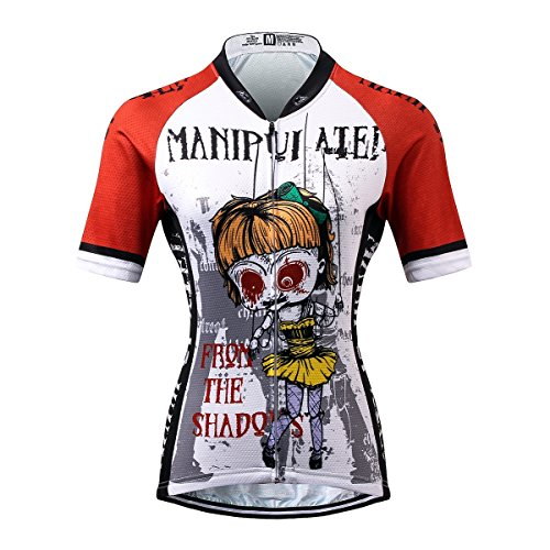 Thriller Rider Sports® Damen Manipuiated Sport & Freizeit MTB Fahrradbekleidung Radtrikot Large