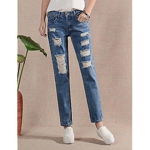 FF&CAI Pantaloni Da donna Jeans Semplice Cotone Anelastico , blue , 28