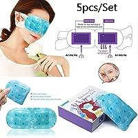 Preisvergleich für tfan sumifun 5x/Eye Care Stück im Dampf Augenmaske Duft Warm erzeugenden Eye Spa Feuchtigkeitsspendende dunklen...