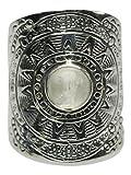 Besonderer 925er Silberring mit Mondstein, Größe:Größe 59 (18.8 mm)