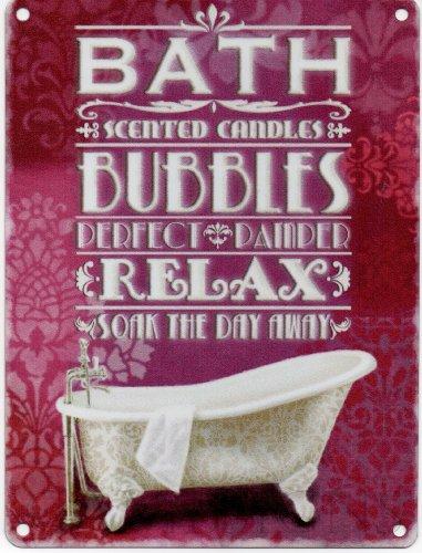 letrero-metalico-con-diseno-de-publicidad-de-bano-de-burbujas-bath-bubbles-relax-multi-chico-200mm-x