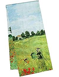 VON LILIENFELD® Scialle Seta Sciarpa Donna Accesorio Satin Arte Claude  Monet  Campo di papaveri cde88a5fe701