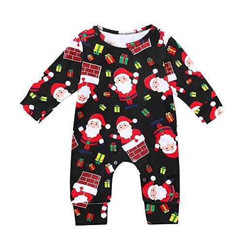 b5f562bc414ba DAY8 Noël Bébé Garçon Combinaison Hiver Pyjama Noël Bébé Fille Naissance  Automne Manche Longue Grenouillères Père