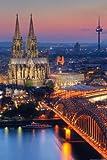 Deutsche Städte - Poster - Kölner Dom - Nacht + Ü-Poster