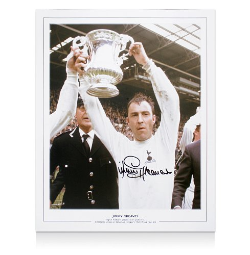 Jimmy-Greaves-Hand-Signed-Large-Print-Lifting-1967-FA-Cup