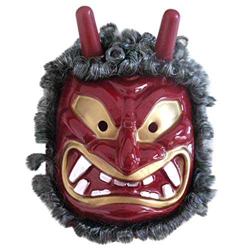 Lazzboy Halloween Festival Kostüm Horrible Mask Thrill Dekorative Cosplay Japanisch Erwachsene Full Face Horror Maske Harz Prajna Ghost Traditionelle - Indianer Kostüm Zum Verkauf