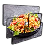 LaboratorioRadice Quadri Moderni Tridimensionali in 3D cm.65x85 Pannelli in Legno Piatti Pronti Pasta Spaghetti Carne G67754