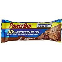 PowerBar Protein Riegel mit Casein, Whey und Sojaprotein – Eiweiß-Riegel, Fitness-Riegel reich an Ballaststoffen – 15 x 55g Chocolate