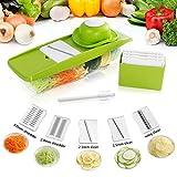 Lifewit Mandoline Slicer Set Gemüsehobel Gemüseschneider Gemüsereibe Küchenhelfer mit Auffangbehälter