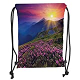 Best DECO FAIRY® En Natures - ZKHTO Drawstring Sack Backpacks Bags,Nature,Magical Fairy Horizon Review