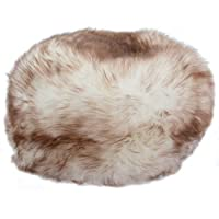 Ladies Genuine Sheepskin Hat by Bushga - Natural Tipped - Medium
