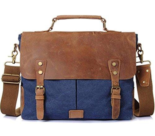 a28613d660790 Blue Vintage Reisen Dark Umh Mann ngetasche Schultertasche Canvas Handtasche  Arbeit Tasche Shfang Aktentasche Einkaufen Coral ...