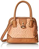 London Fog Lark Mini Dome - Bolso de asas para mujer, color melon ostrich, talla única