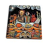 3dRose der Teufel S Dream Folk Art Skulls mexikanischen Colorful Surrealism-Memory Buch, 12von 30,5cm (DB TT-Roboter 2)