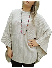 TopsandDresses - Poncho - Manches 3/4 - Femme