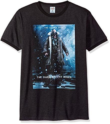 Trevco Herren Batman Dark Knight Rises Bane Poster Ringer T-Shirt, Heather/Black, X-Groß (Bane Dark Knight Rises)