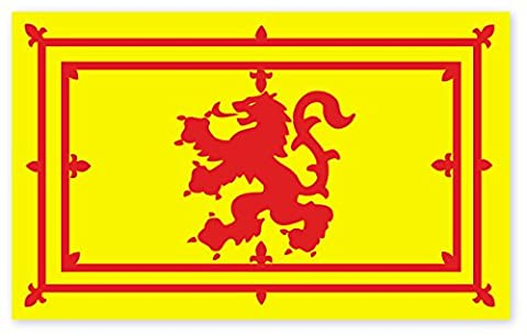 Scottish Lion Rampant Flag Rectangle Vinyl Car Sticker Decal