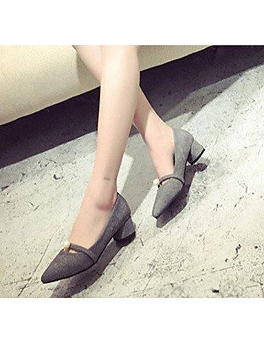 WSS 2016 Chaussures Femme-Décontracté-Noir / Gris / Orange-Talon Bas-Talons-Chaussures à Talons-Laine synthétique black-us6 / eu36 / uk4 / cn36