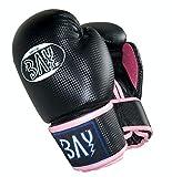 """BAY® """"fresh mesh"""" Boxhandschuhe schwarz pink rosa 12 Unzen mit Netz-Gewebe"""