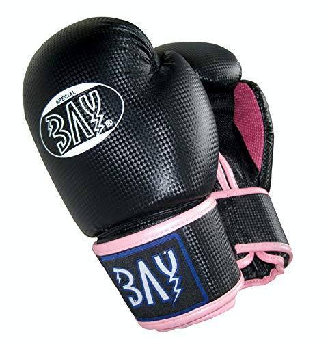 """BAY® """"fresh mesh"""" Boxhandschuhe schwarz pink rosa 12 Unzen mit Netz-Gewebe, Box-Handschuhe, Carbon Look, UZ OZ, PU-Leder, Profi Delux, Kickboxen, Boxen, Thaiboxen, Muay Thai, Frauen Damen Kinder Jugendliche Junioren Mädchen"""