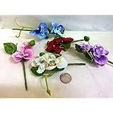 Confezione 10 fiori, Bomboniera pick rametto orchidea, segnaposto confetti. (ck879)