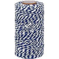 gespout algodón Bakers Twine Navidad de bandas kit 100m Wrap regalo Rope-shop Botella caja de regalo hilo decoración, azul marino, 1,5 mm