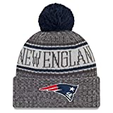 New Era New England Patriots Beanie NFL 2018 Sideline Sport Graphite Knit Navy/Grey - One-Size