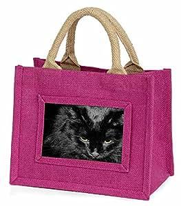 Advanta ac-300bmp Gorgeous schwarz Katze Little Mädchen Einkaufstasche Weihnachten Geschenk, Jute, pink, 25,5x 21x 2cm