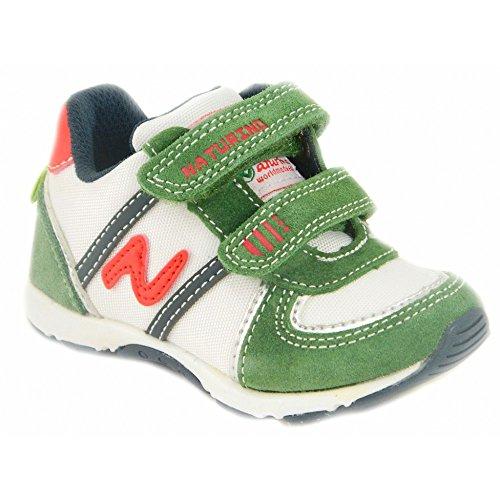 Naturino - Naturino scarpe bambino sportive verde bianco 366 Vert