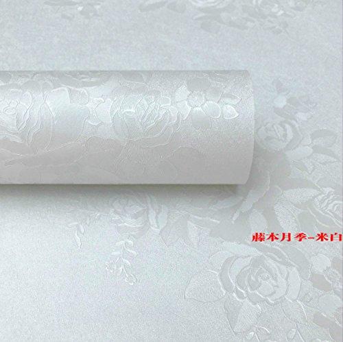 ZCHENG 60 cm Breite 3 m lange PVC Selbstklebend Tapeten, die Landschaft und die gemütliche im Europäischen Stil Schlafzimmer Wohnzimmer Wallpaper Wasserdicht großer Mengen, Creme, groß 791816 -