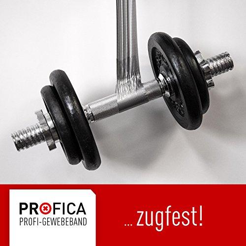 Profica¨ - Gewebeband 4 Rollen 50m x 48mm Ultra Strong silber Klebeband