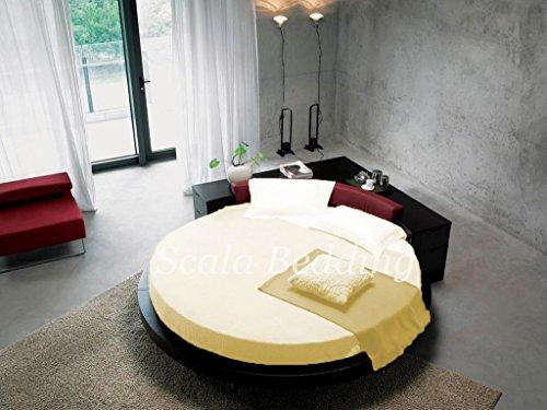 - rund Bettlaken Bettwäsche SCALABEDDING 400TC 100% ägyptische Baumwolle doppelt 80cm Durchmesser aus robustem weiß -