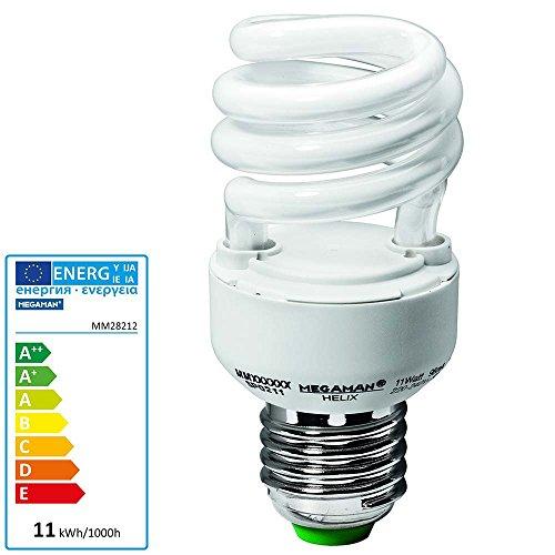 Megaman Energiesparlampe 96mm 230V E27 11W = 60W EEK: A Spiralform Inhalt 1St.