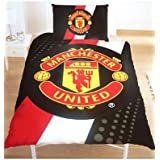 Manchester United Fc Football Parure de lit housse de couette 140 x 200 cm + taie 50x75 lit simple