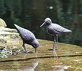 Charming Set von zwei Gusseisen mit Wild Bird Skulptur oder Ornament–Ideal für den Garten und...